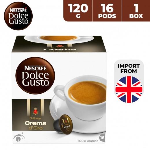 Nescafe Dolce Gusto Dallmayr Crema D'Oro 120 g (16 Capsules)
