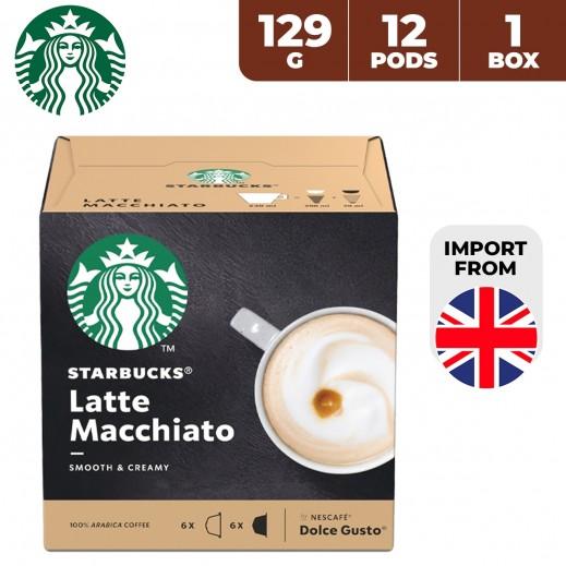 Starbucks Nescafe Dolce Gusto Latte Macchiato 12 Capsules 129 g