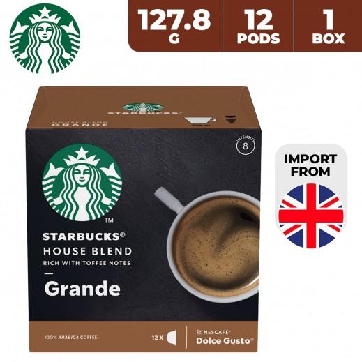 Starbucks Nescafe Dolce Gusto House Blend Grande 12 Capsules 127.8 g