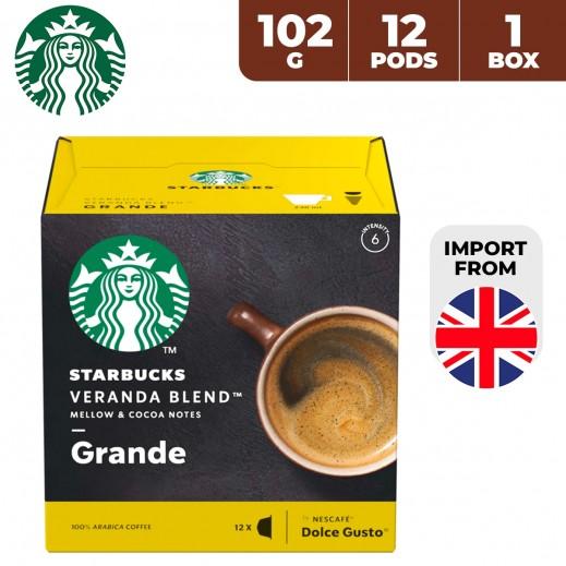 Starbucks Nescafe Dolce Gusto Veranda Blend Grande 12 Capsules 102 g