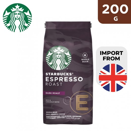 Starbucks Espresso Whole Bean Dark Coffee 200 g