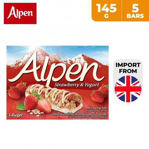 Alpen Strawberry & Yogurt Cereal Bar 5 x 145 g