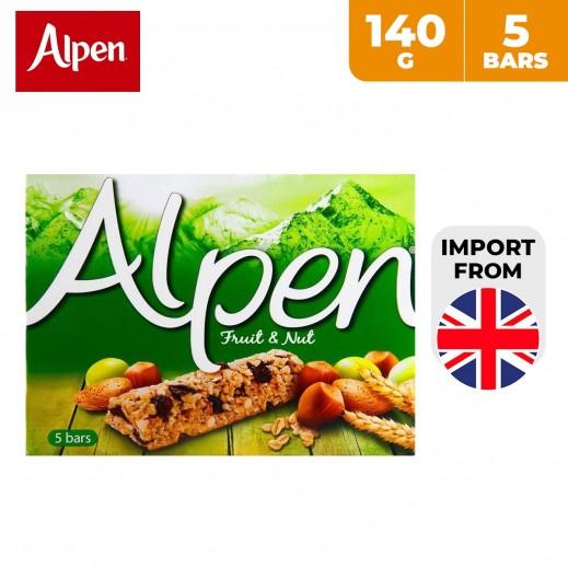 Alpen Fruit & Nut Cereal Bar 5 x 140 g