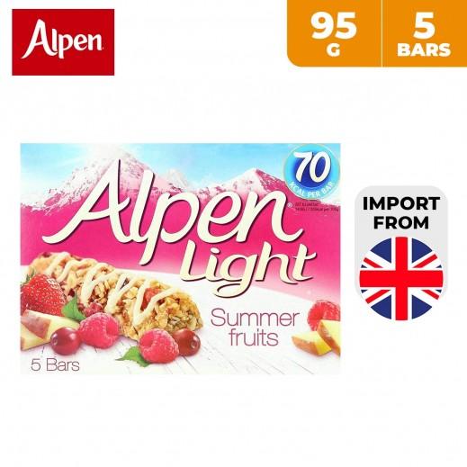 Alpen Light Summer Fruits Cereal Bars 5 x 95 g