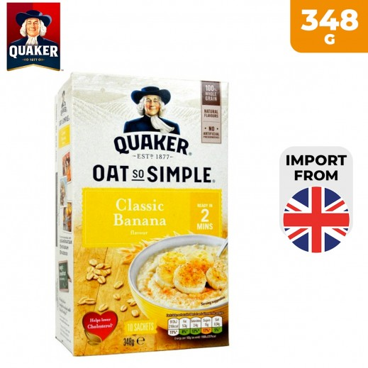 Quaker Oat So Simple Classic Banana Porridge 348 g