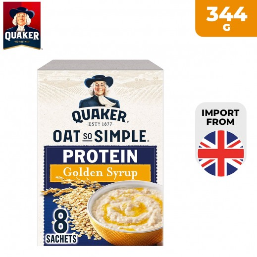 Quaker Oat So Simple Protein Golden Syrup Porridge 344 g