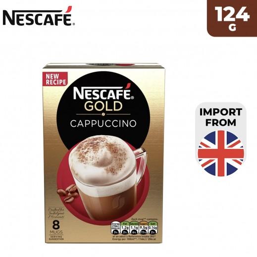 Nescafe Gold Cappuccino Coffee 124 g (8 Sachets)