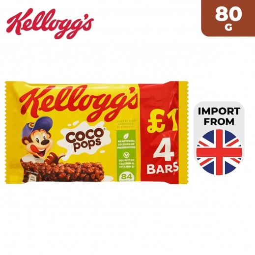 Kellogg's Coco Pops 4 Cereal Bars 80 g