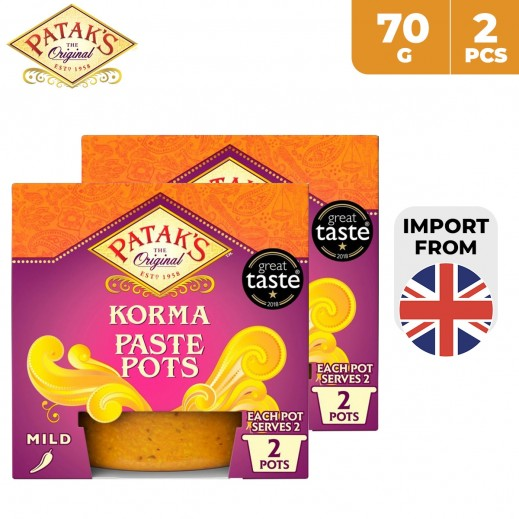 Patak's Korma Paste Pots 2 x 70 g