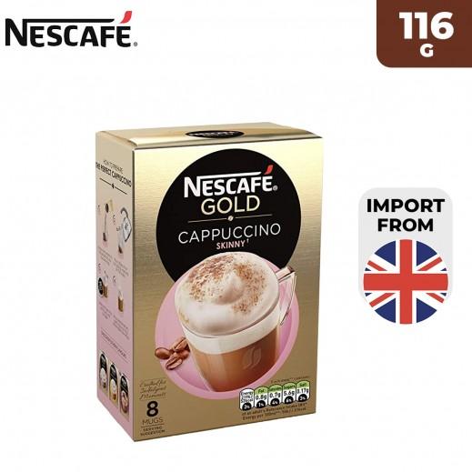 Nescafe Gold Unsweetened Skinny Cappuccino 116 g (8 Sachets)