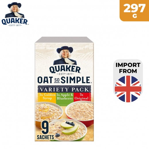 Quaker Oats So Simple 9 Variety Pack Oats 297 g
