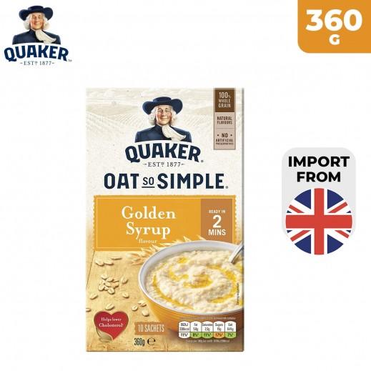Quaker Oats So Simple 10 Golden Syrup Oats 360 g