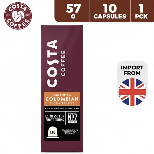 Costa Coffee Colombian Aluminium Nespresso Coffee Capsules 10 x 57 g