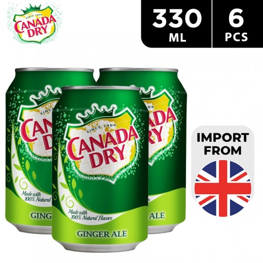 Canada Dry Ginger Ale Drink Can 6 x 330 ml