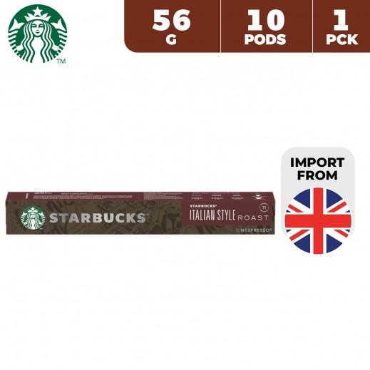 Starbucks Italian Style Roast Nespresso Coffee 56 g (10 Capsules)