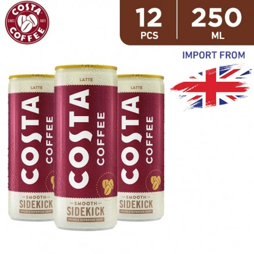 Costa Coffee Ready To Drink Latte 12 x 250 ml
