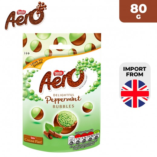 Aero Delightful Peppermint Bubbles Milk Chocolate Pouch 80 g