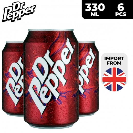 Dr. Pepper Soft Drinks 6 x 330 ml