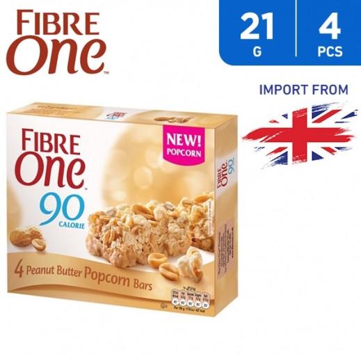 Fibre One Peanut Butter Popcorn Bars 4 x 21 g