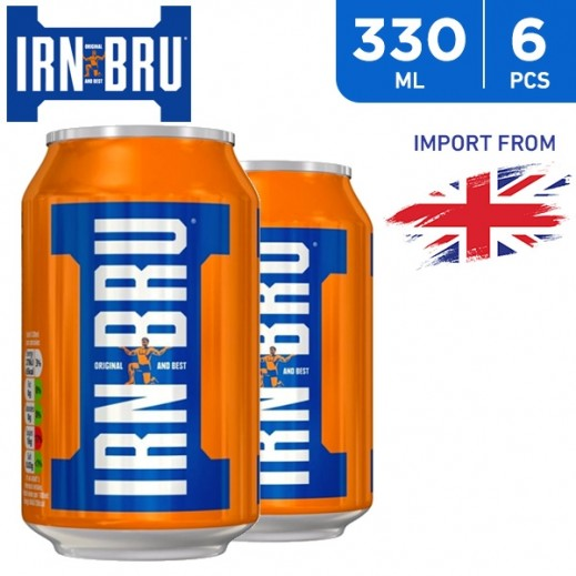 Irn Bru Regular Drink Can 6 x 330 ml