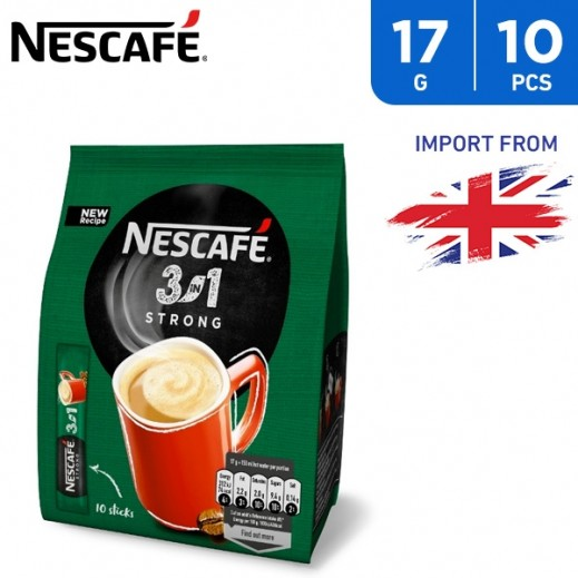 Nescafe 3 In 1 Strong Coffee 10 x 17 g