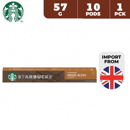 Starbucks Nespresso House Blend Lungo Coffee Pods 57 g 10 Capsules