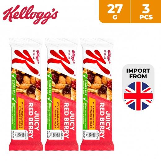 Kelloggs Special K Juicy Red Berries Cereal Bar 3 x 27 g