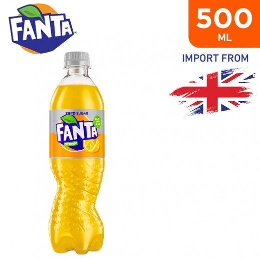 Fanta Zero Sugar Orange Drink 500 ml