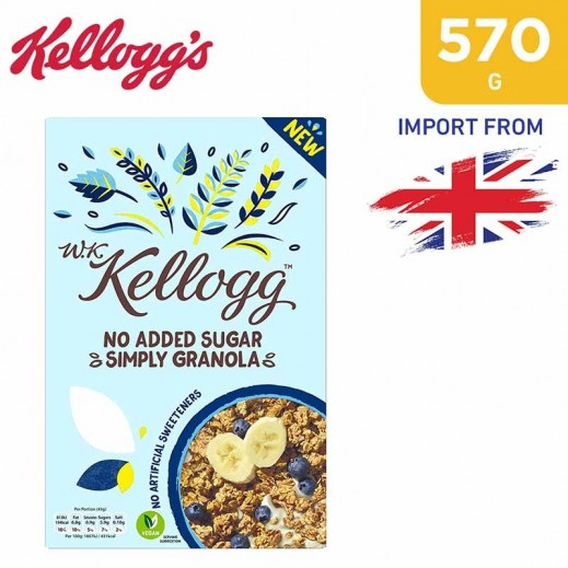 Kelloggs No Added Sugar Simply Granola 570 g