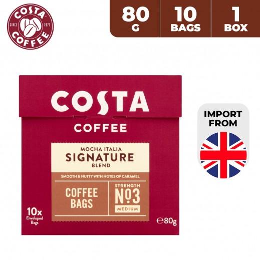 Costa Coffee Mocha Italia Signature Blend Coffee Bags 80 g (10 Bags)