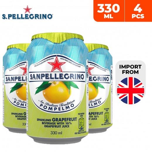San Pellegrino Pompelmo Sparkling Grapefruit Juice 4 x 330 ml