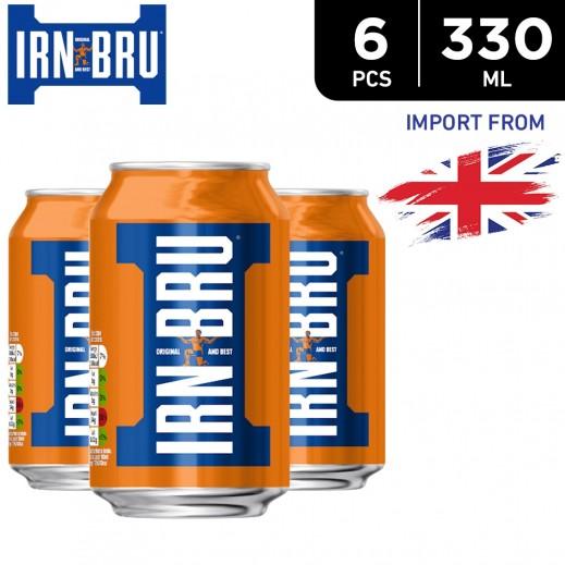 Irn Bru Drink Cans 6 x 330 ml
