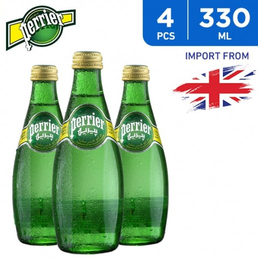 Perrier Sparkling Natural Mineral Water Bottle 4 x 330 ml