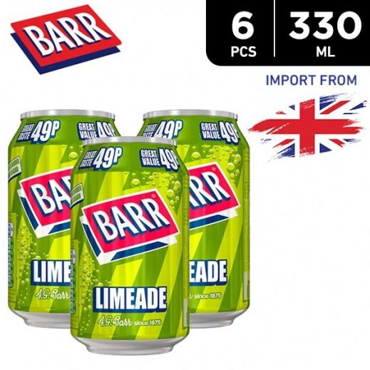 Barr Limeade Drink Can 6 x 330 ml
