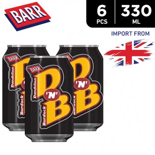 Barr D 'N' B Dandelion & Burdock 6 x 330 ml