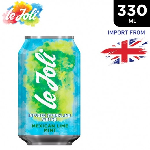 Le Joli Mexican Lime Mint Infused Sparkling Water 330 ml