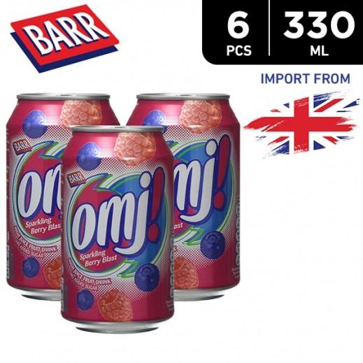Barr Omj Blast Sparkling Fruit Juice Drink 6 x 330 ml