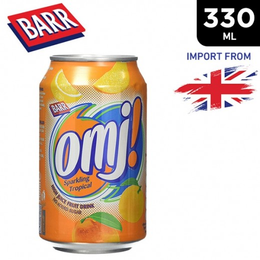 Barr Omj Tropical Sparkling Fruit Juice Drink 330 ml