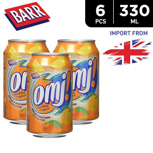 Barr Omj Tropical Sparkling Fruit Juice Drink 6 x 330 ml