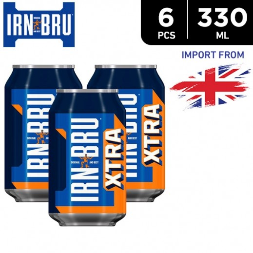 IRN BRU Extra Drink Can 6 x 330 ml