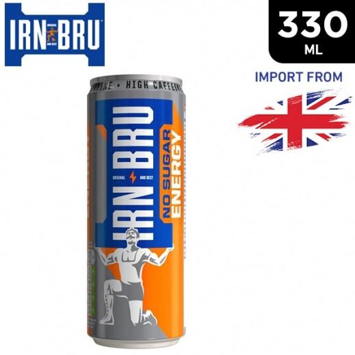 Irn Bru Energy No Sugar Drink Can 330 ml