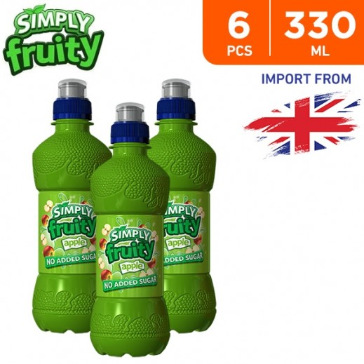 Simply Fruity No Added Sugar Apple Juice Drink 6 x 330 ml