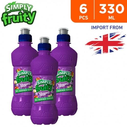 Simply Fruity No Added Sugar Blackcurrant & Apple Juice Drink 6 x 330 ml