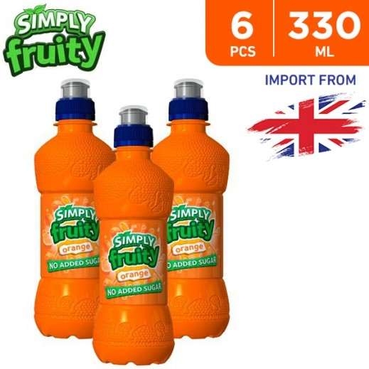 Simply Fruity No Added Sugar Orange Juice Drink 6 x 330 ml