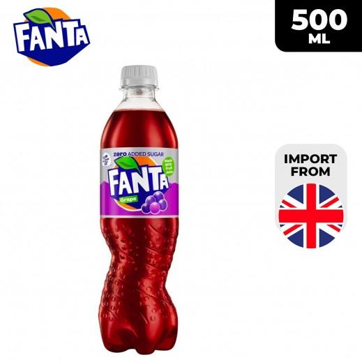 Fanta Zero Added Sugar Grape Drink 500 ml