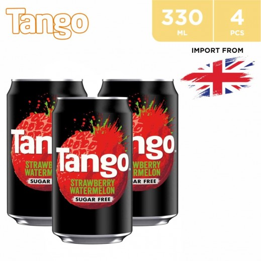 Tango Strawberry & Watermelon Drink Can 4 x 330 ml