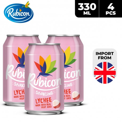 Rubicon Sparkling Lychee Drink Can 4 x 330 ml