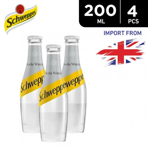 Schweppes Soda Water 4 x 200 ml