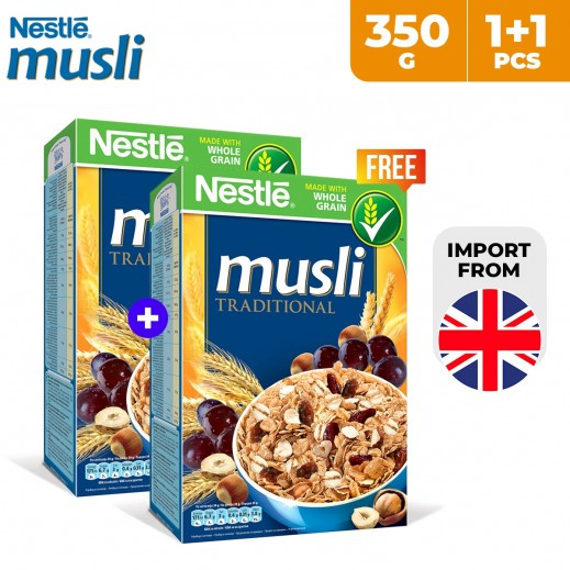 Nestle Musli Traditional Whole Grain Cereal 350 g (1 + 1 Free)
