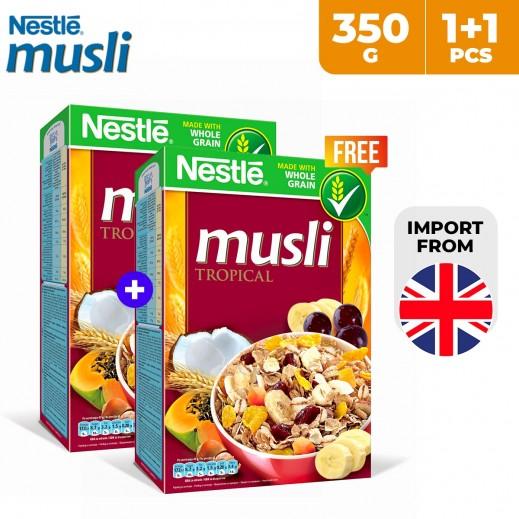Nestle Musli Tropical Whole Grain Cereal 350 g (1 + 1 Free)